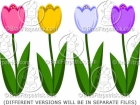Cartoon Tulip Clipart