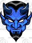 Blue Devil Clipart Mascot Graphics
