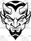 Black & White Devil Clipart Graphics