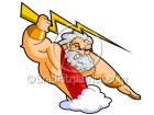 Cartoon Zeus Clipart Graphics