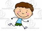Cartoon Boy Running Clipart Graphics