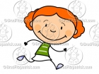 Cartoon Girl Running Clipart Graphics