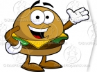 Cartoon Cheeseburger Clipart