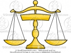 Vector Scales of Justice Clip Art