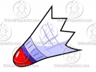 Cartoon Shuttlecock Clipart (Birdie)