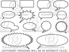 Cartoon Vector Speech Bubbles & Word Balloons Clipart