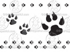 Cartoon Dog Paw Print Clipart Graphics